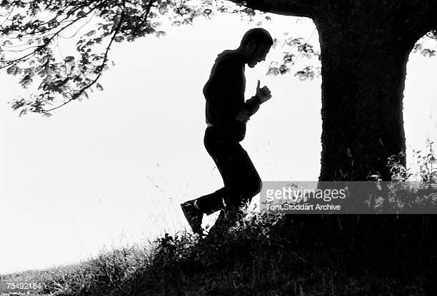 English boxer Alan Minter on a training run in London June 1984