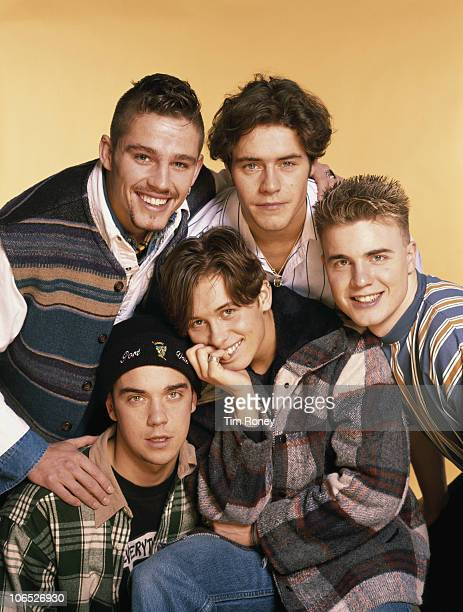 English boy band Take That circa 1993 Clockwise from top left Jason Orange Howard Donald Gary Barlow Mark Owen and Robbie Williams