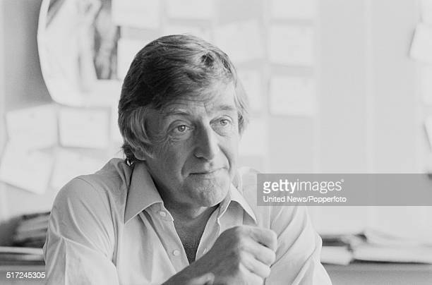English broadcaster and author Michael Parkinson pictured in his office in London on 27th August 1980
