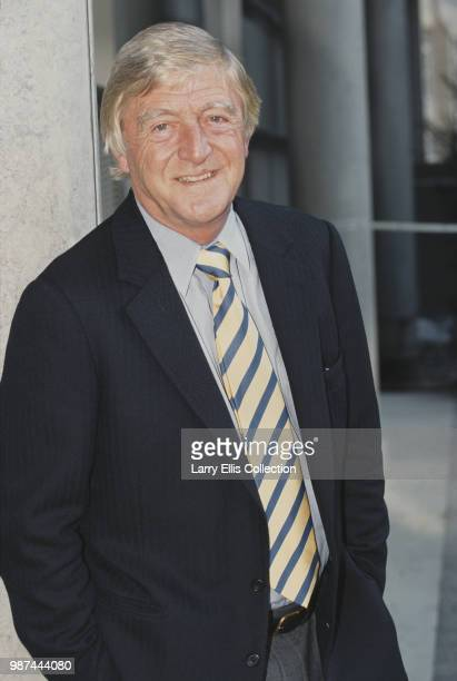 English broadcaster and journalist Michael Parkinson posed circa 1995