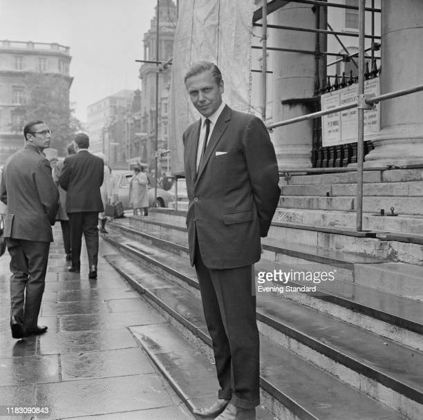 English broadcaster and natural historian David Attenborough on the steps of St Martin-in-the-Fields church near Trafalgar Square, London, UK, 26th...