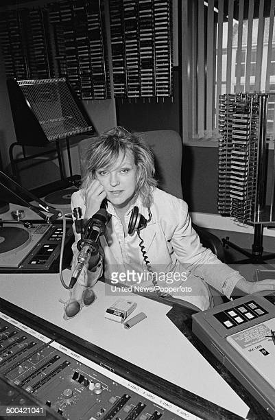 English broadcaster Annie Nightingale in a radio studio on 8th October 1985
