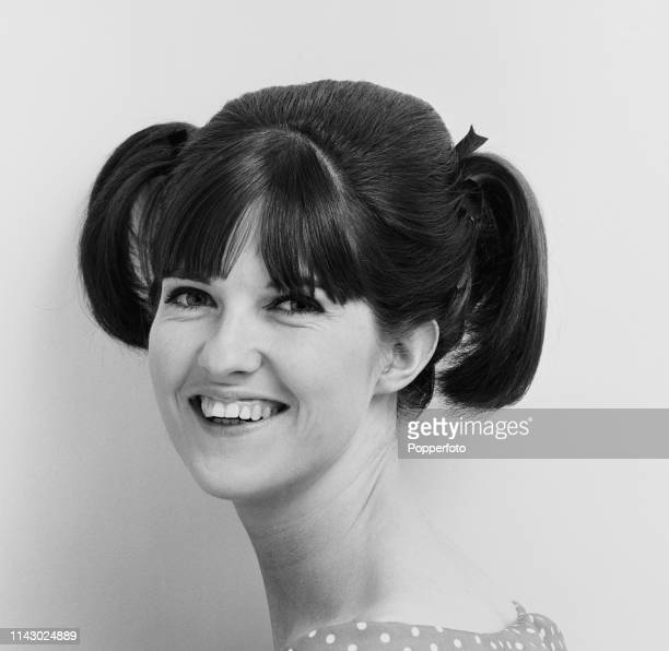 English broadcaster Cathy McGowan host of the music television show Ready Steady Go in August 1964