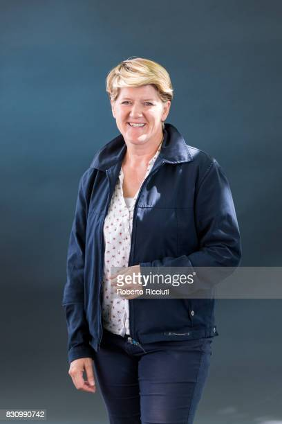 English broadcaster journalist and author Clare Victoria Balding OBE attends a photocall during the annual Edinburgh International Book Festival at...
