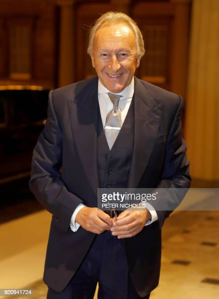 English businessman Harold Tillman poses on arrival to attend a reception to mark the creation of the Commonwealth Fashion Exchange initiative at...