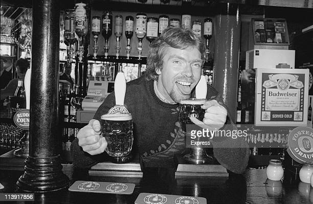 English businessman Richard Branson at the Princess Victoria pub, London, 26th October 1984.