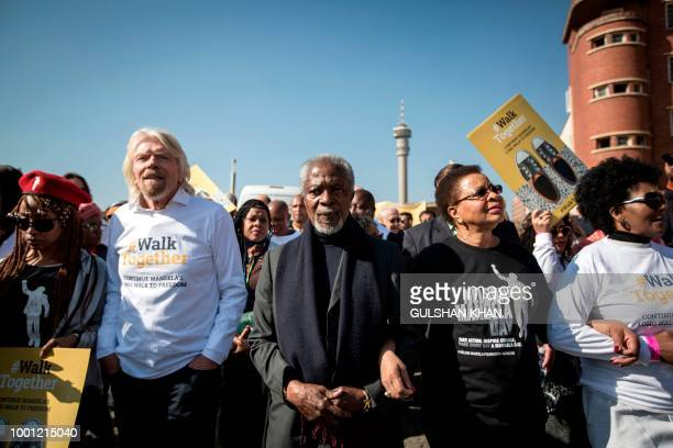 English businessman Richard Branson former secretarygeneral of the United Nations Kofi Annan and former South African first lady and widow of Nelson...