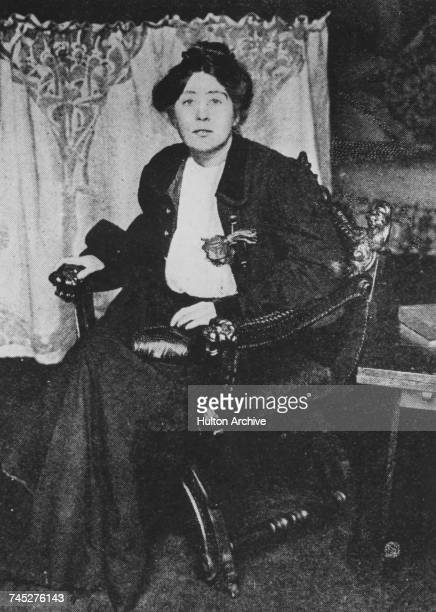 English campaigner for the suffragette movement Sylvia Pankhurst circa 1906 Original publication The Graphic 5th May 1906