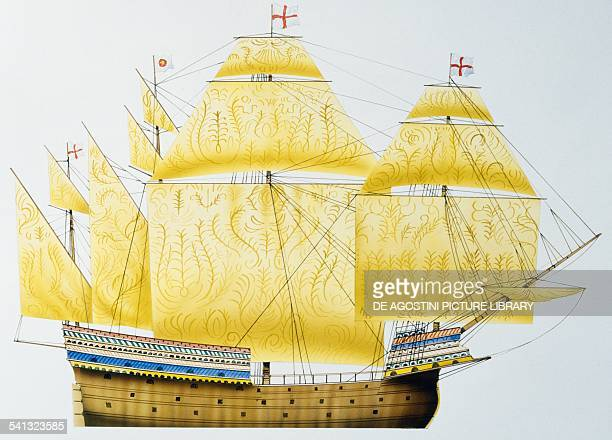 English carrack Henry Grace a Dieu drawing United Kingdom 16th century