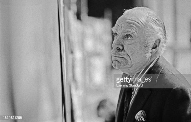 English cartoonist Osbert Lancaster , UK, 16th March 1974. He contributed regular cartoons to 'The Daily Express' until his retirement in 1981.