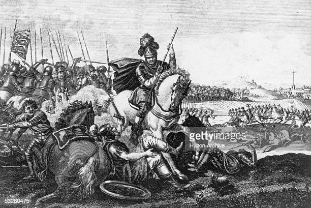 English cavalry in action at the battle of Bannockburn 23rd24th June 1314 The battle proved a major victory for the Scots in their wars of...