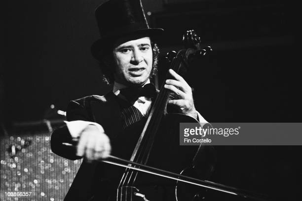 English cellist Mike Edwards in concert with ELO in the US November 1974