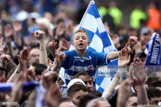 English Championship League match at the Madejski Stadium Reading 5 v Derby County 0 Reading's resounding victory clinched the Championship title and...