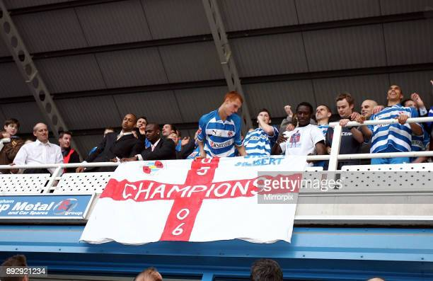 English Championship League match at the Madejski Stadium. Reading 5 v Derby County 0. Reading's resounding victory clinched the Championship title...