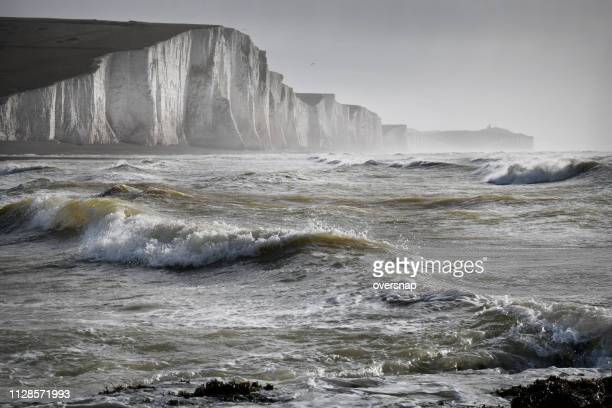 english channel storm - english channel stock photos and pictures
