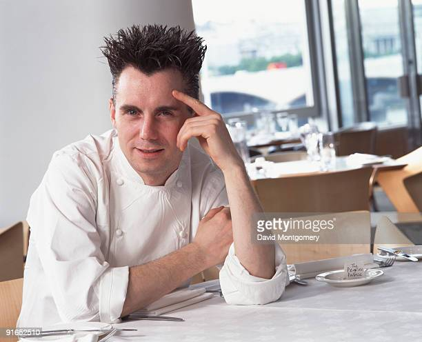 English chef and restaurateur Gary Rhodes at The People's Palace a restaurant in the Royal Festival Hall London circa 2000 Rhodes is the consultant...