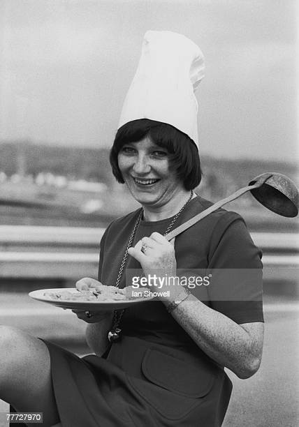 English chef Delia Smith promotes her new television cookery programme 'Family Fare', 3rd September 1973.