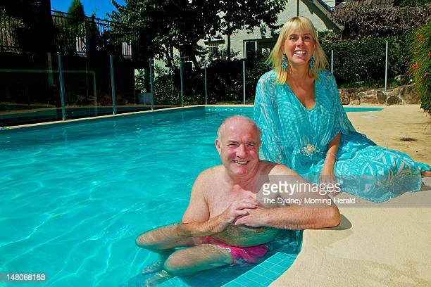 English chef Rick Stein and his wife Sarah Stein at their home on March 20 2012 in Neutral Bay Sydney