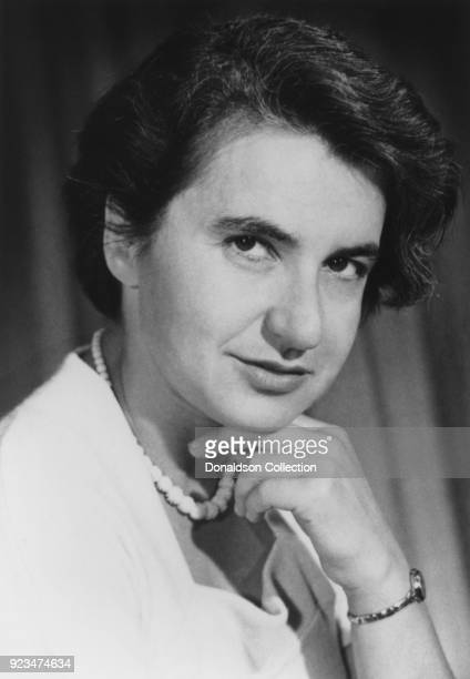 English chemist and Xray crystallographer Rosalind Elsie Franklin poses for a portrait circa 1955