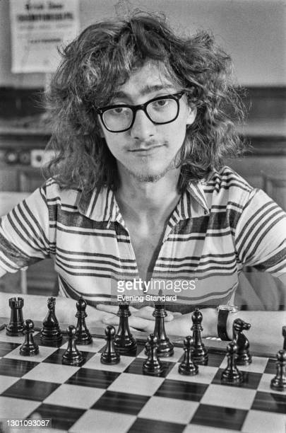 English chess player and mathematician Jonathan Mestel during the British Chess Championships at Eastbourne, East Sussex, UK, 14th August 1973.