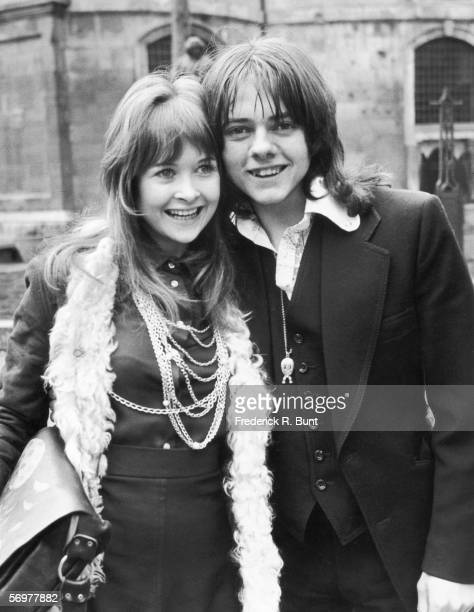 English child actor Jack Wild with his Welsh partner Gaynor Jones March 1973