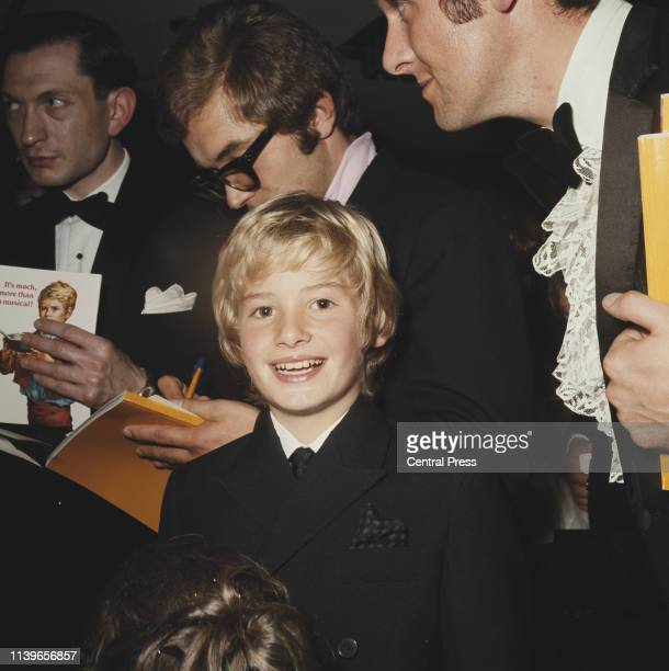 English child actor Mark Lester attends the UK premiere of the musical film 'Oliver!' in which he plays the title role, September 1968.