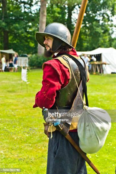 Englischer Bürgerkrieg Schlacht Reenactment