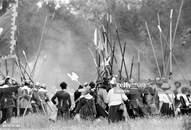 English Civil War reenactment performed by The Sealed Knot an educational charity Reading June 1980