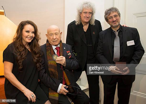 English classical crossover soprano actress songwriter and dancer Sarah Brightman Commander of the Cosmonauts team Alexi Leonov former Queen...