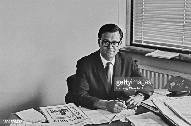English classical music broadcaster Humphrey Burton, the new Head of Music and Arts for the BBC, UK, 8th May 1965.