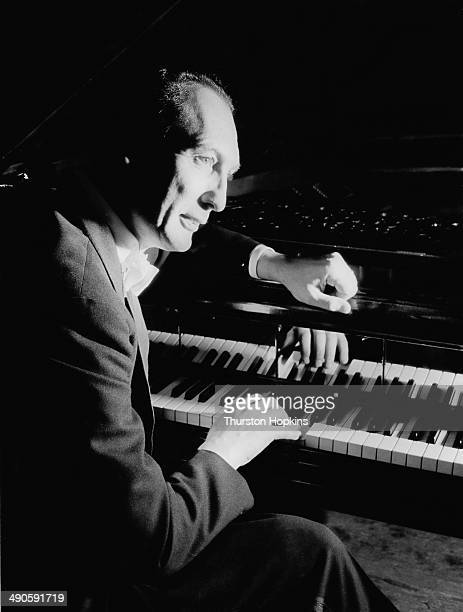 English classical pianist Alberto Semprini during a UK television broadcast September 1953 Original Publication Picture Post 6720 TV Programme Round...