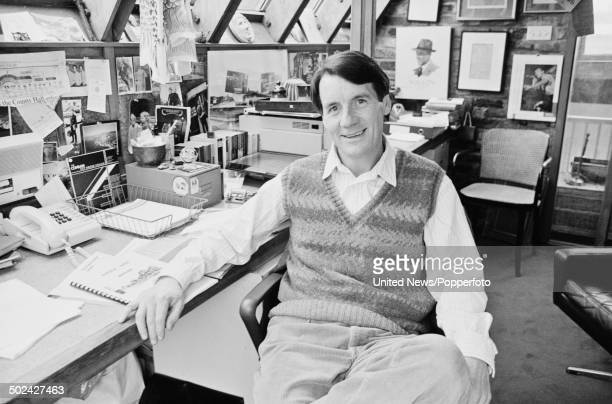 English comedian actor and writer Michael Palin posed in his office at home in London on 4th March 1986
