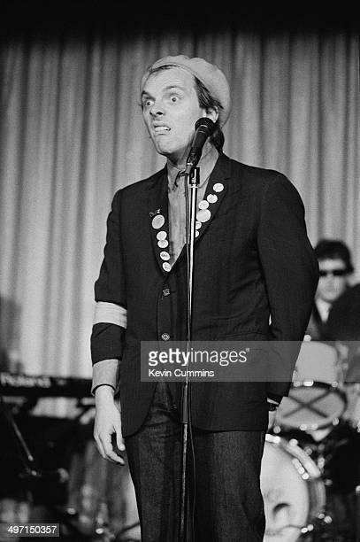 English comedian, actor and writer Rik Mayall as Rick in a stage version of the television sit-com 'The Young Ones', Nottingham, 23rd February 1983.
