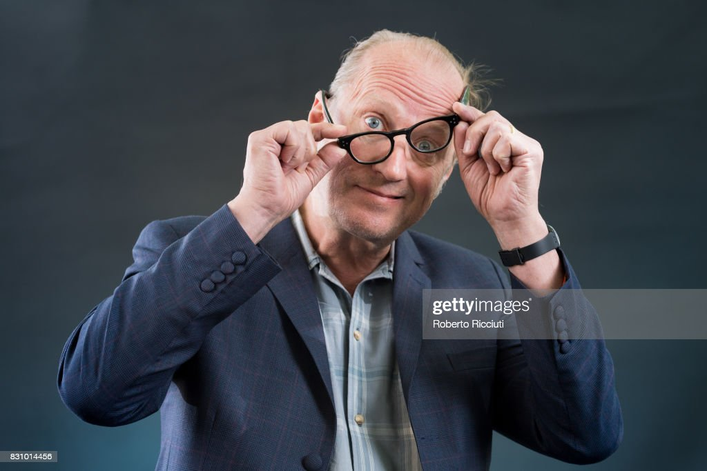 English comedian, actor, writer, musician, television presenter and director Ade Edmondson attends a photocall during the annual Edinburgh International Book Festival at Charlotte Square Gardens on August 13, 2017 in Edinburgh, Scotland.