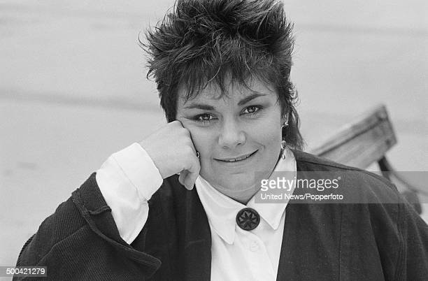 English comedian and actor Dawn French from the television sitcom 'Girls on Top' posed on 16th October 1985