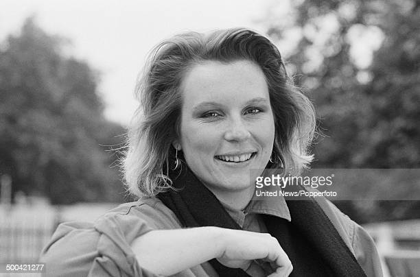English comedian and actor Jennifer Saunders from the television sitcom 'Girls on Top' posed on 16th October 1985