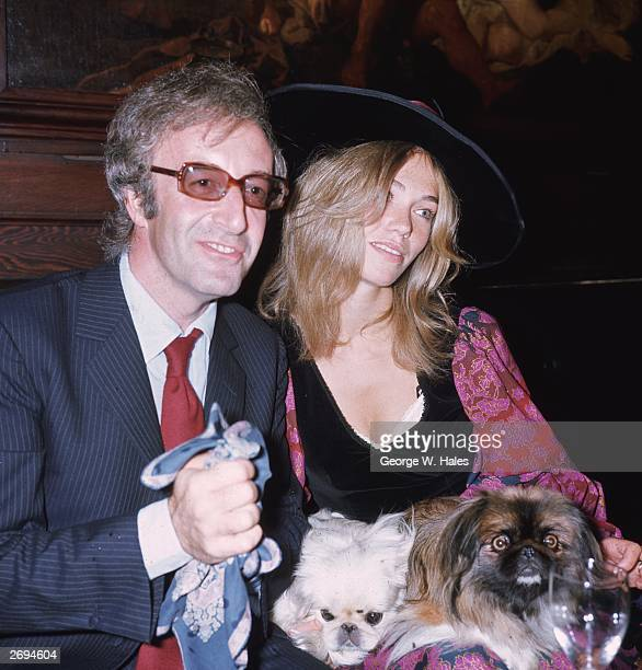 English comedian and actor Peter Sellers with his third wife Miranda Quarry the stepdaughter of Lord Mancroft deputy chairman of Cunard's at their...