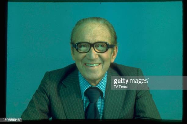 English comedian Arthur Askey photographed during an appearance on game show Celebrity Squares, 1976.