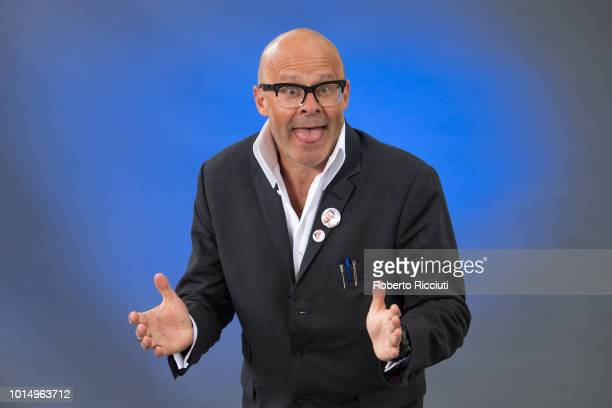 English comedian author and television presenter Harry Hill attends a photocall during the annual Edinburgh International Book Festival at Charlotte...