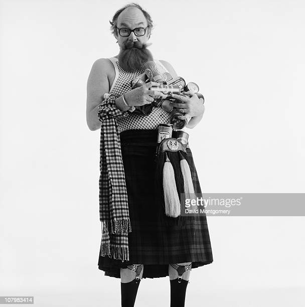 English comedian Eric Morecambe in Scottish attire 8th February 1982