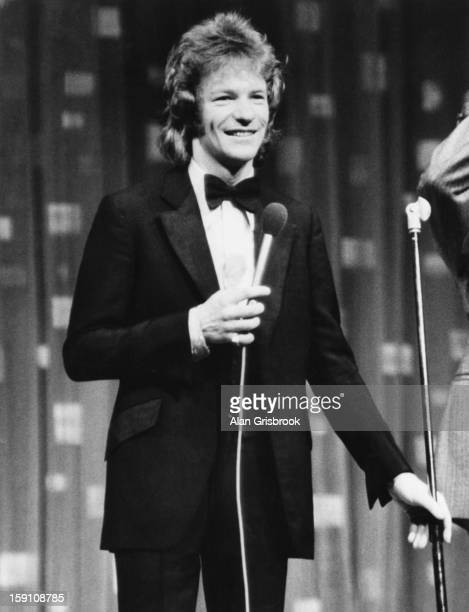 English comedian Jim Davidson on stage during the Royal Variety Performance at the Theatre Royal Drury Lane London 10th November 1979