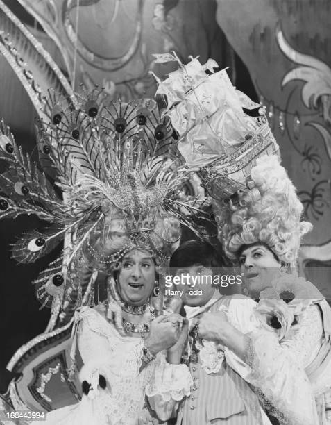 English comedian Jimmy Tarbuck as Buttons at a rehearsal of the BBC 1 Christmas pantomime 'Cinderella' at the Golders Green Hippodrome London 17th...