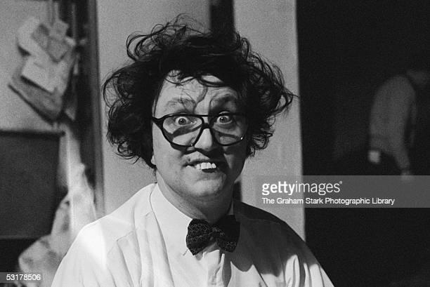 English comedian Ken Dodd shows off his trademark buck teeth and crazy hair circa 1970
