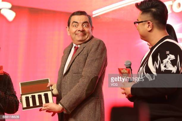 English comedian Rowan Atkinson attends the premiere of film 'Top Funny Comedian' on March 19 2017 in Beijing China