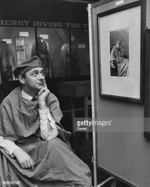 English comedian Roy Hudd visits an exhibition at the Toynbee Theatre of the 19th century Shakespearian actor Henry Irving 4th December 1969 He is...