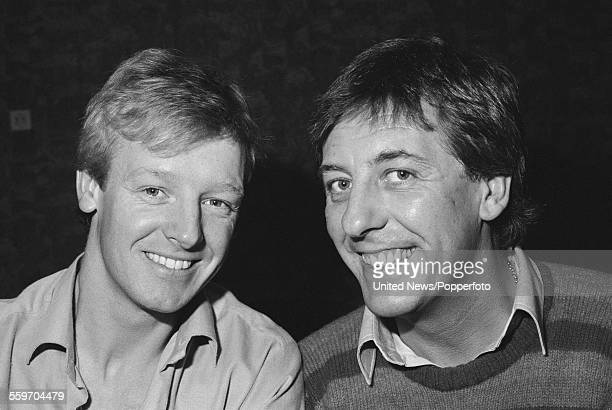 English comedians and impressionists Les Dennis and Dustin Gee who appear together in the television series 'The Laughter Show' in London on 15th...