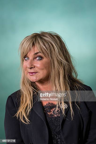 English comedienne writer and actress Helen Lederer attends a photocall at Edinburgh International Book Festival on August 25 2015 in Edinburgh...