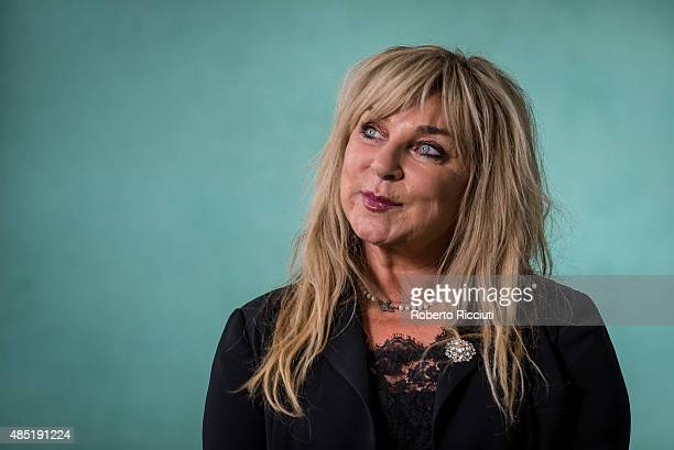 English comedienne, writer and actress Helen Lederer attends a photocall at Edinburgh International Book Festival on August 25, 2015 in Edinburgh,...