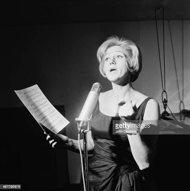English comedy actress Liz Fraser performs a song 17th November 1964