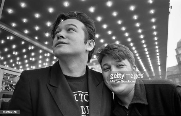 English comedy double act Lee and Herring Stewart Lee and Richard Herring Leicester Square London United Kingdom 1993